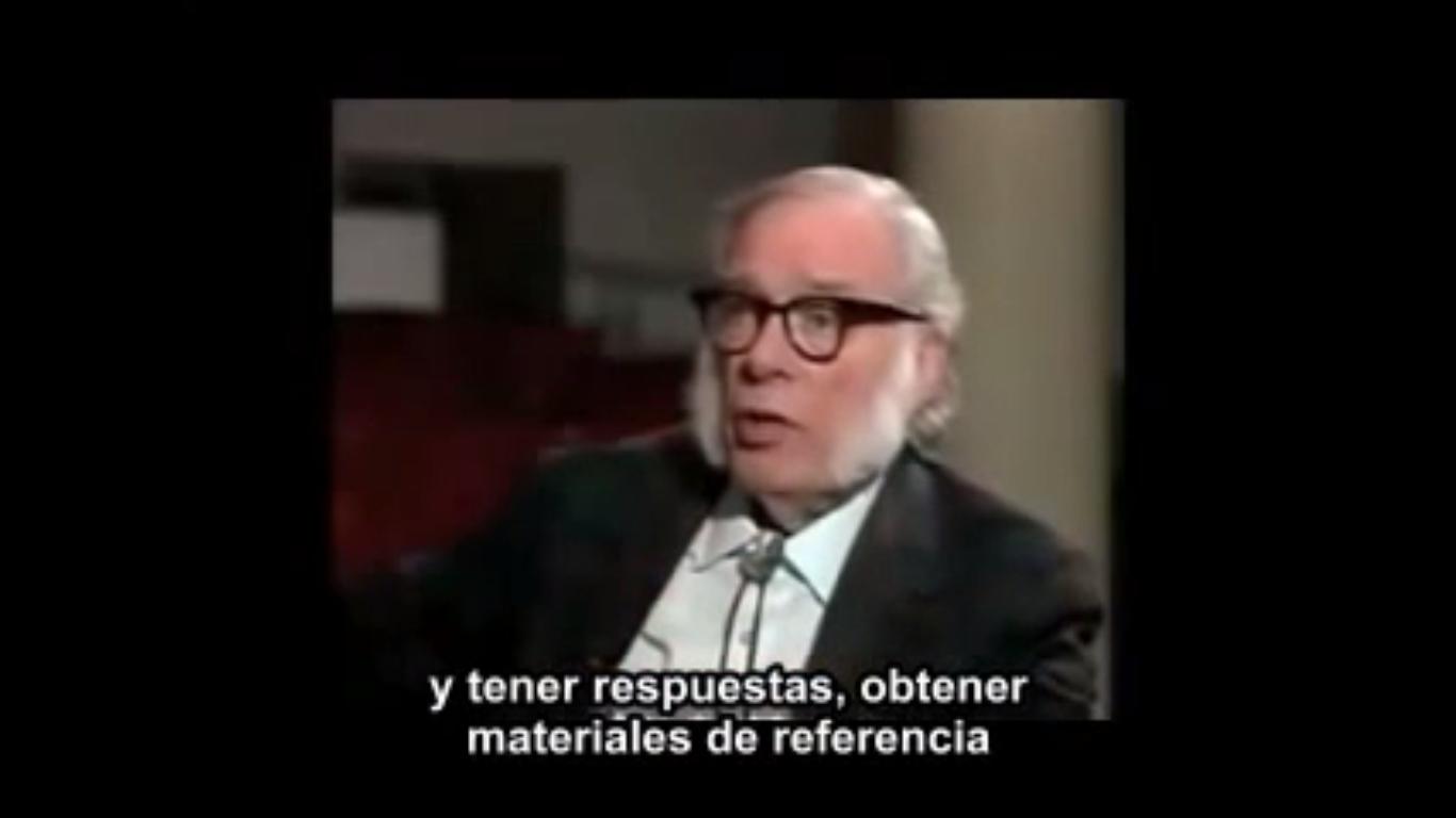 Isaac Asimov anticipando en 1988 el impacto de Internet en la Educación